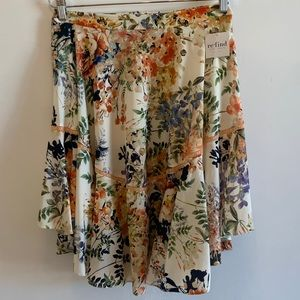 Anthropologie Ranna Gill Floral Skirt - 8